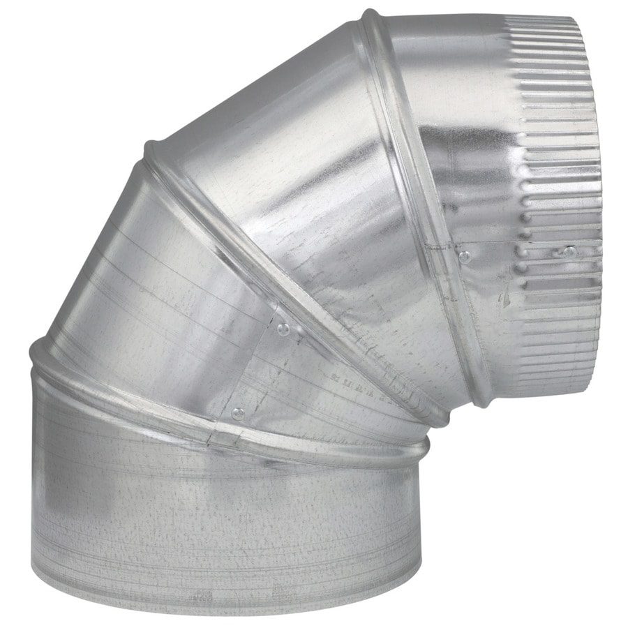 IMPERIAL 7-in x 7-in Galvanized Steel Round Duct Elbow