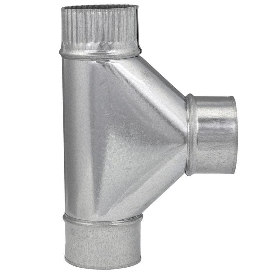 IMPERIAL 3-in Dia x 3-in Dia x 3-in Dia x 7-in L Crimped Galvanized Steel Duct Tee