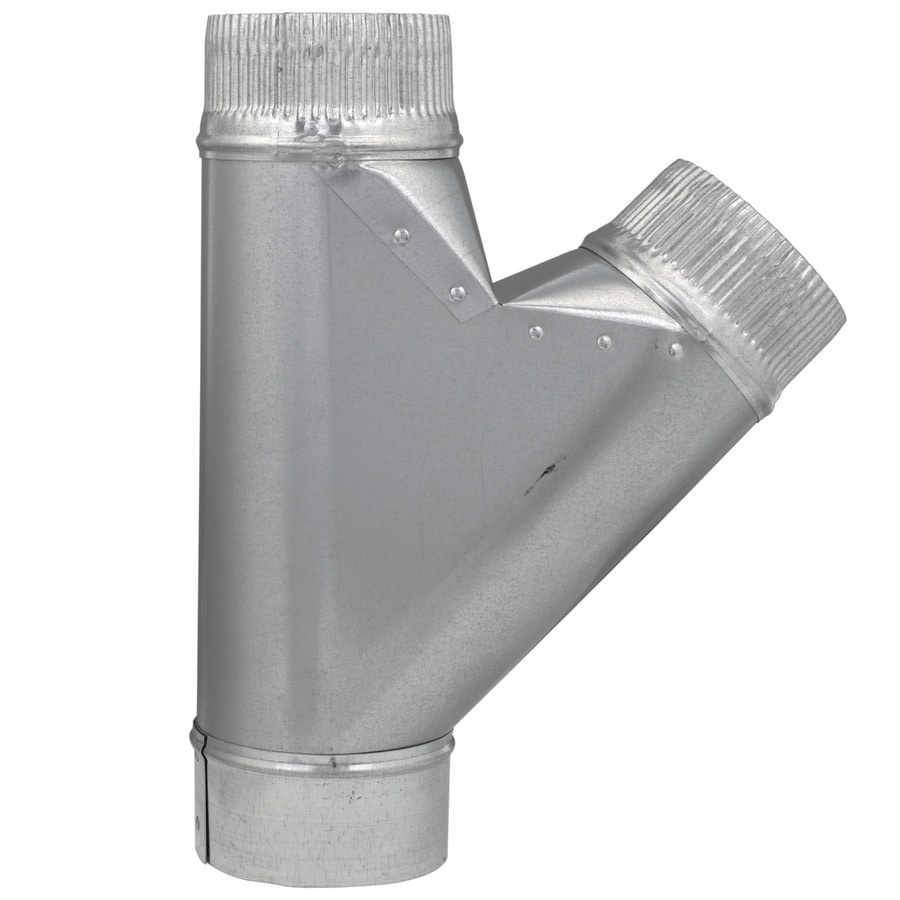 IMPERIAL 4-in dia x 4-in dia x 4-in dia Crimped Galvanized Steel Full Flow Duct Wye