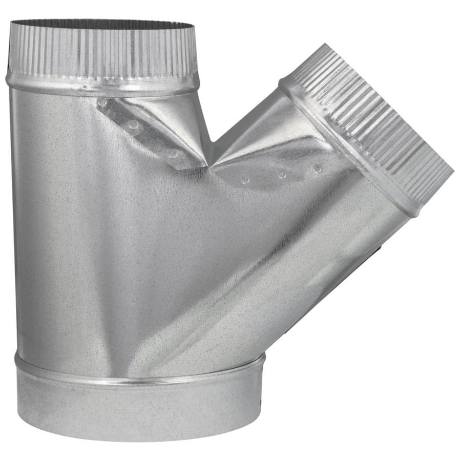 IMPERIAL 8-in dia x 6-in dia x 6-in dia Crimped Galvanized Steel Full Flow Duct Wye