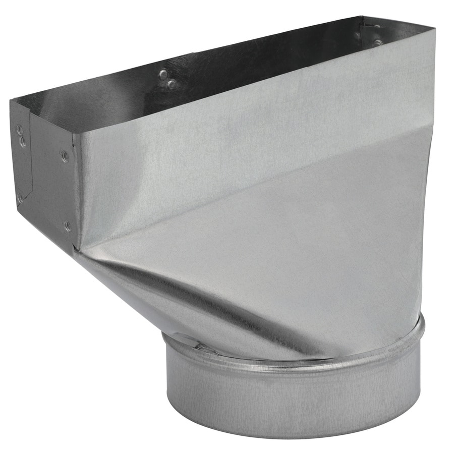 IMPERIAL 6-in x 2.25-in Galvanized Steel Straight Register Duct Boot