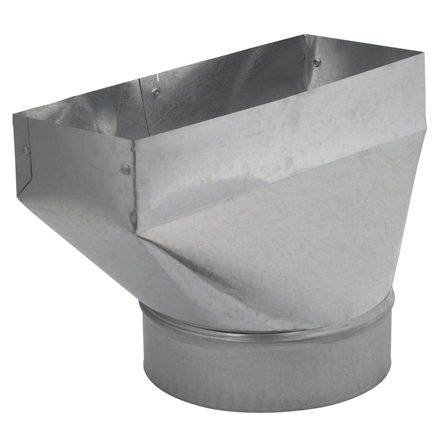 IMPERIAL 6-in Dia x 4-in W x 6.875-in L Galvanized Steel Straight Register Duct Boot