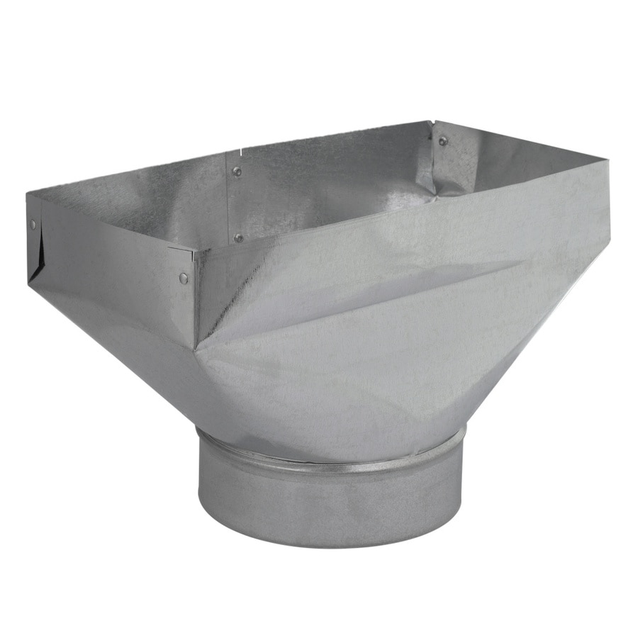 IMPERIAL 6-in x 6-in Galvanized Steel Straight Register Duct Boot