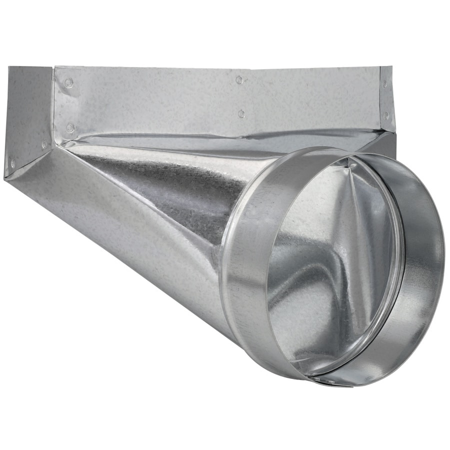 IMPERIAL 6-in x 2.25-in Galvanized Steel 90-Degree Register Duct Boot