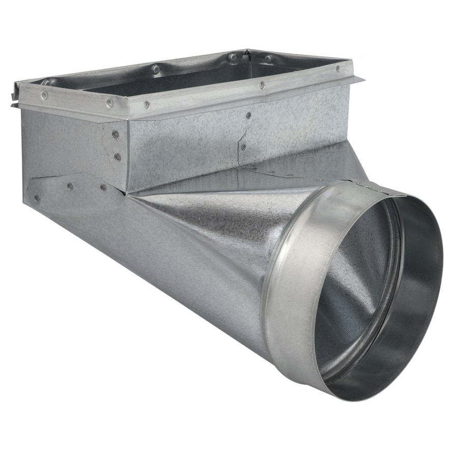 IMPERIAL 6-in x 4-in Galvanized Steel 90-Degree Register Duct Boot