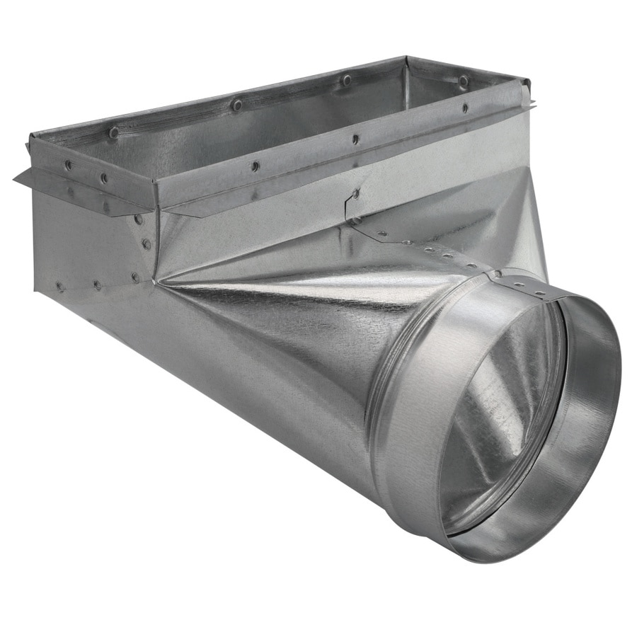 IMPERIAL 12-in x 4-in x 6-in Galvanized Steel 90 Degree Register Duct Boot