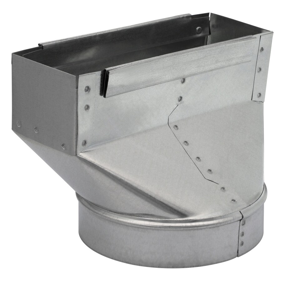IMPERIAL 10-in x 3.25-in x 7-in Galvanized Steel Straight Stack Duct Boot