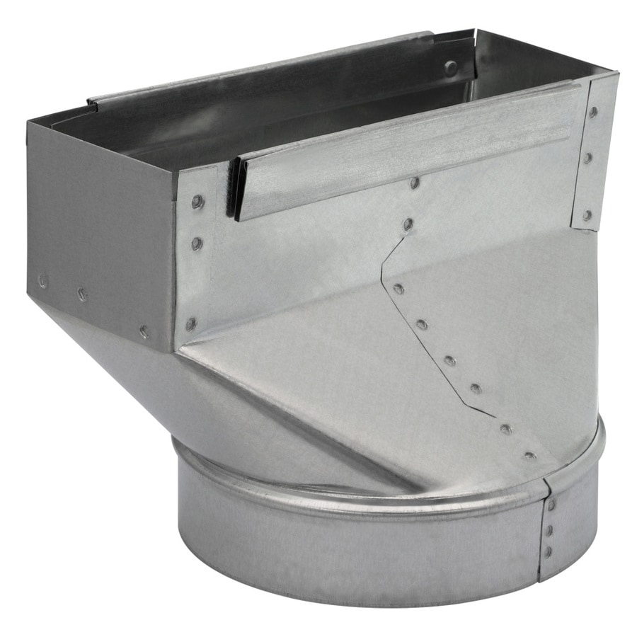 IMPERIAL 7-in x 3.25-in Galvanized Steel Straight Stack Duct Boot