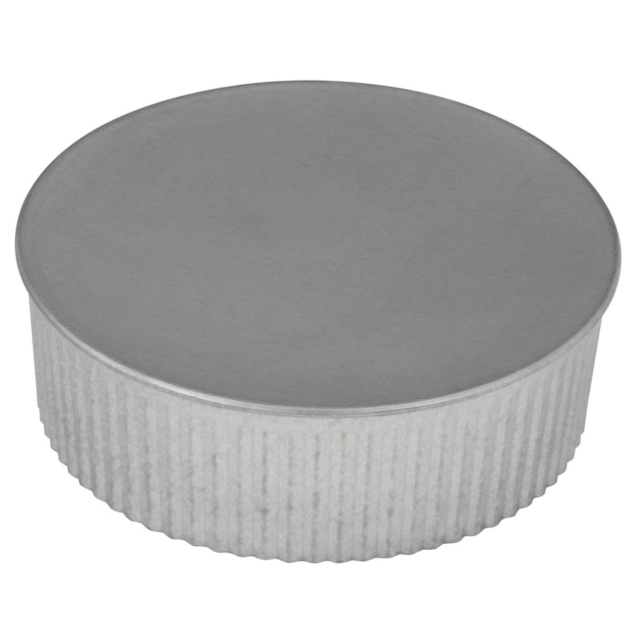 IMPERIAL 6-in dia Galvanized Steel Round End Cap