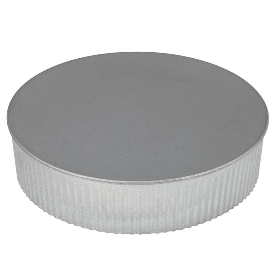 IMPERIAL 8-in Dia Galvanized Steel Round End Cap