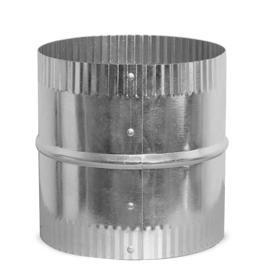 IMPERIAL 4-in dia Crimped Galvanized Steel Flexible Duct Connector