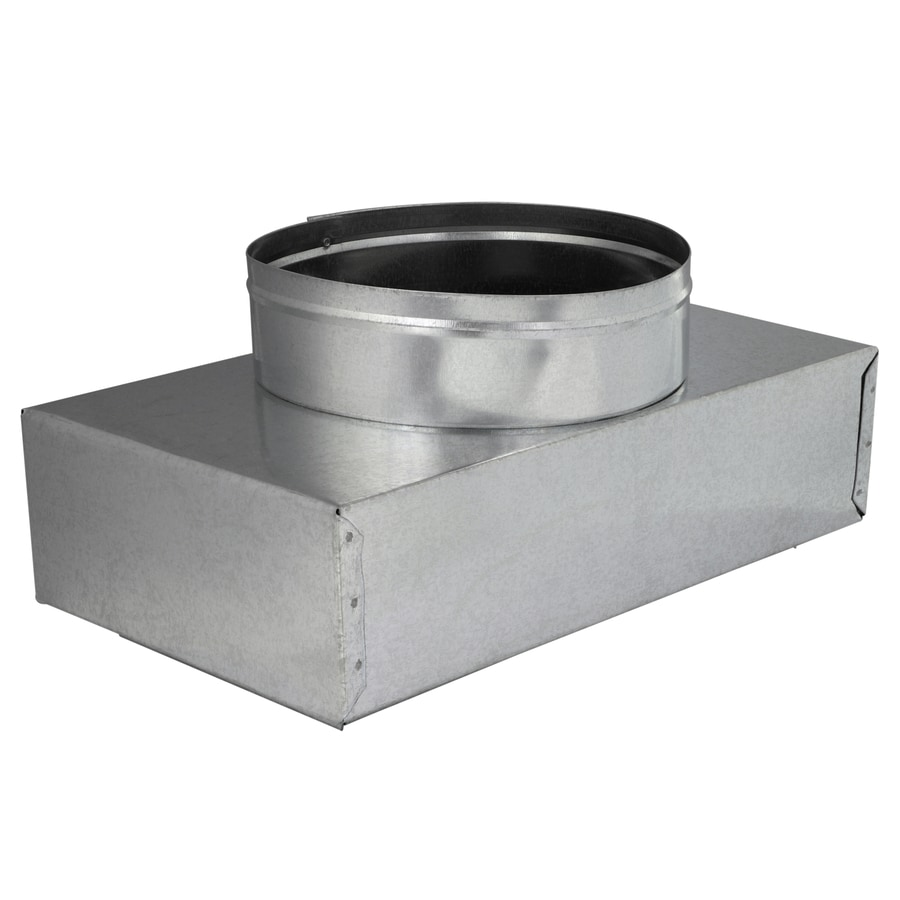 IMPERIAL 8-in x 6-in Insulated Galvanized Steel Straight Register Duct Boot
