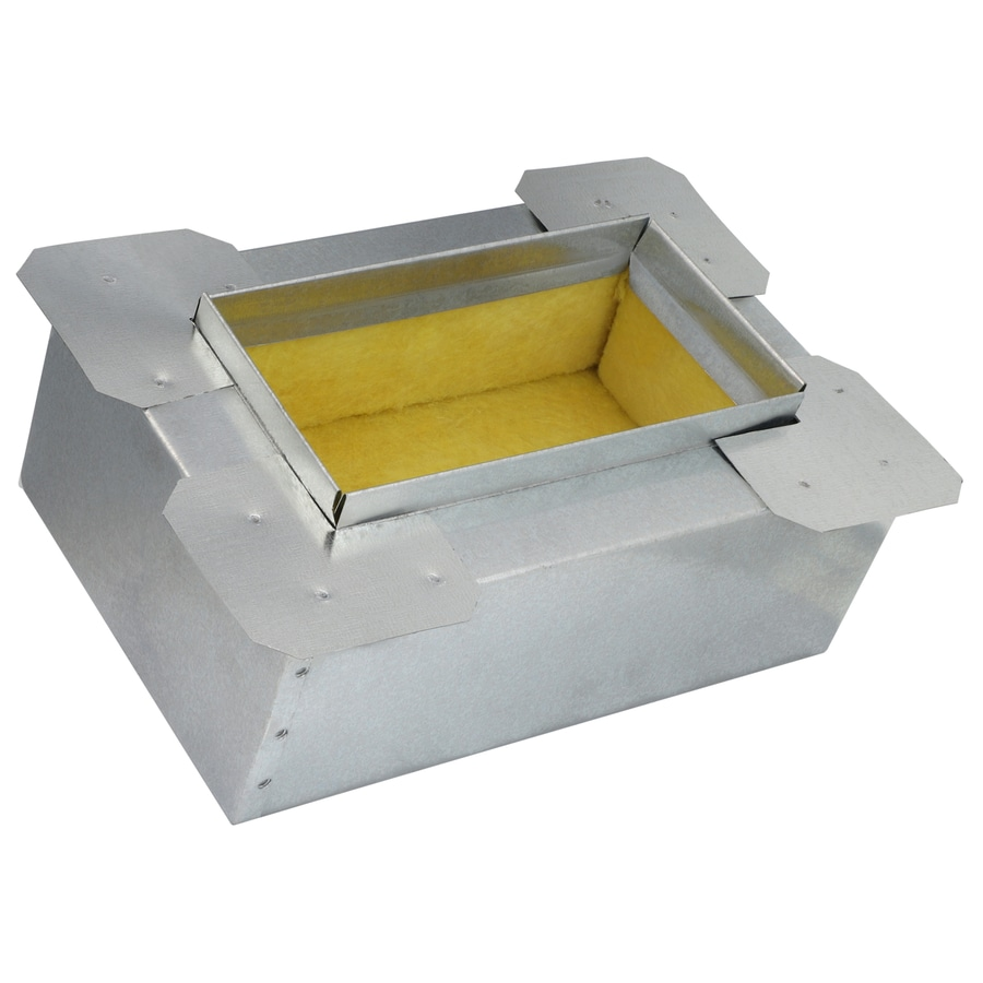 IMPERIAL 4-in Insulated Galvanized Steel Ductboard Register Duct Boot