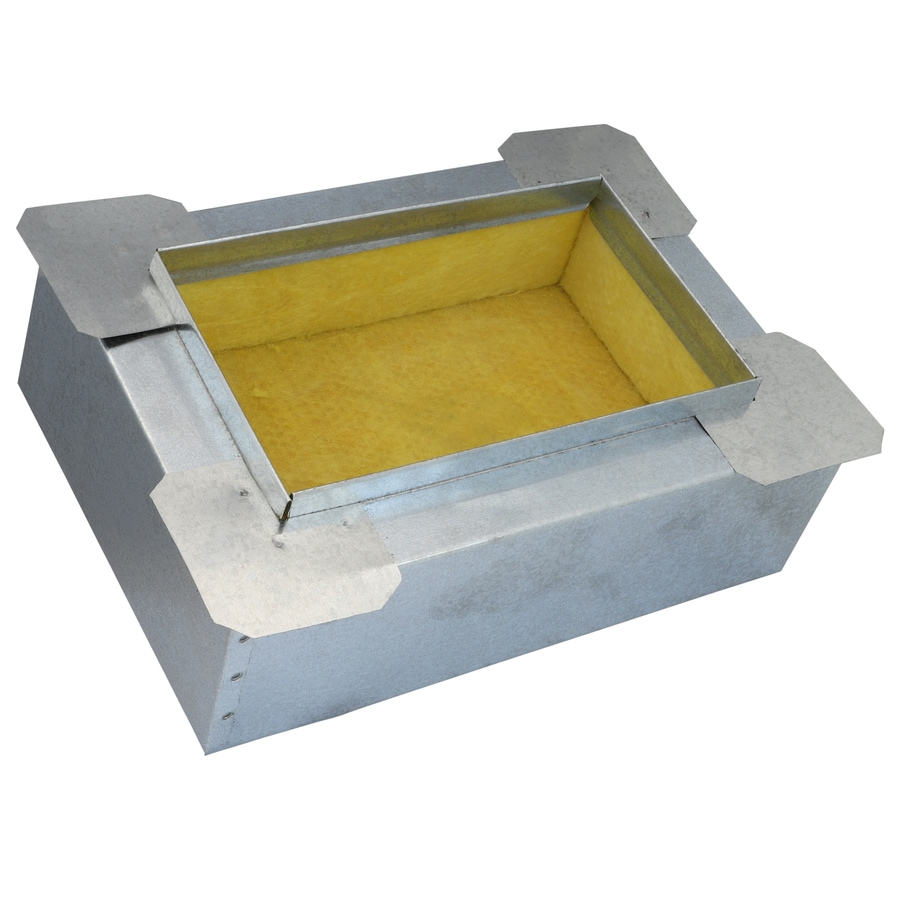 IMPERIAL 6-in Insulated Galvanized Steel Ductboard Register Duct Boot