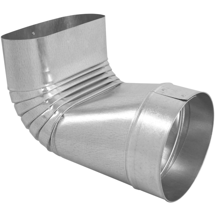 IMPERIAL 6-in Galvanized Steel 90-Degree Round to Oval Duct Boot