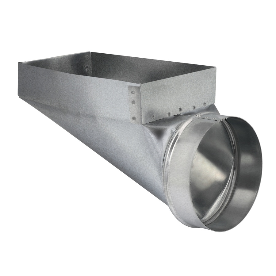 IMPERIAL 6-in x 6-in Galvanized Steel End Register Duct Boot