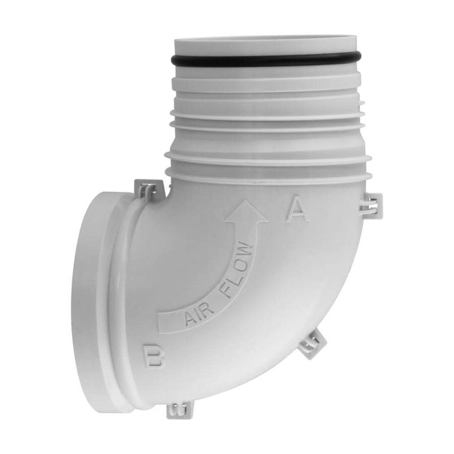 IMPERIAL 4-in x 4-in Plastic Round Duct Elbow