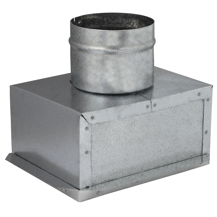 IMPERIAL 4-in x 6-in Galvanized Steel Ceiling Register Duct Boot