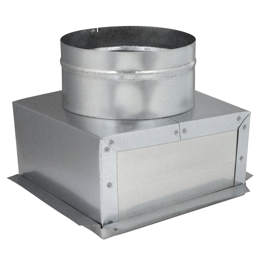 IMPERIAL 8-in x 8-in x 6-in Galvanized Steel Ceiling Register Duct Boot