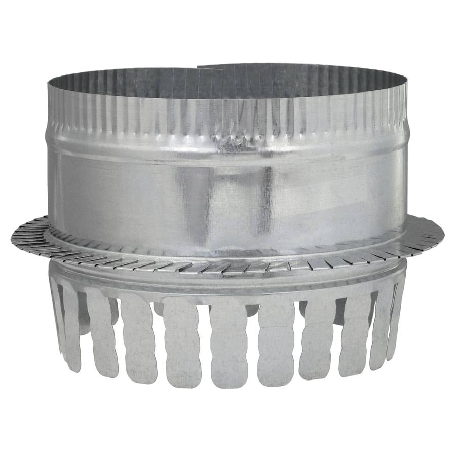IMPERIAL 7-in Galvanized Steel Ductboard Duct Starting Collar