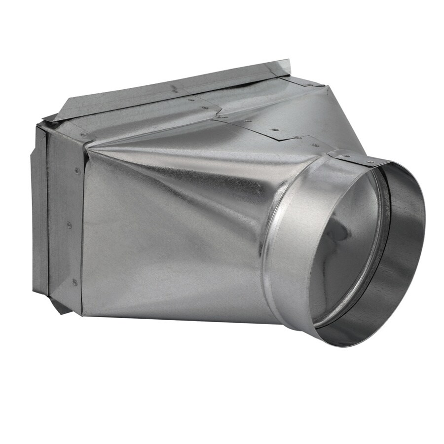 IMPERIAL 12-in x 6-in x 6-in Galvanized Steel Straight Register Duct Boot