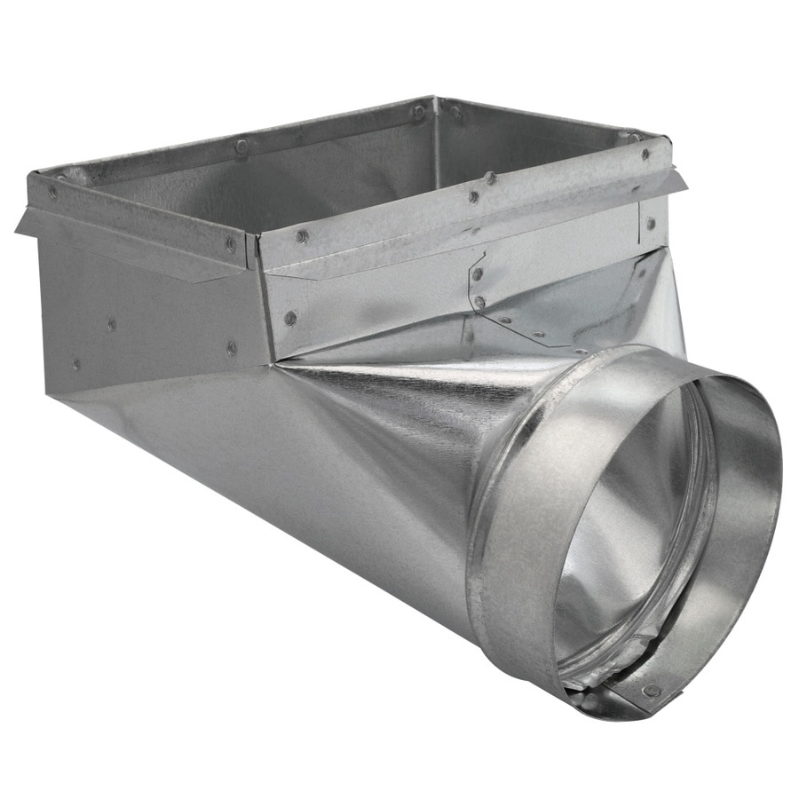 IMPERIAL 6-in Dia x 6-in W x 11.25-in L Galvanized Steel 90 Degree Register Duct Boot