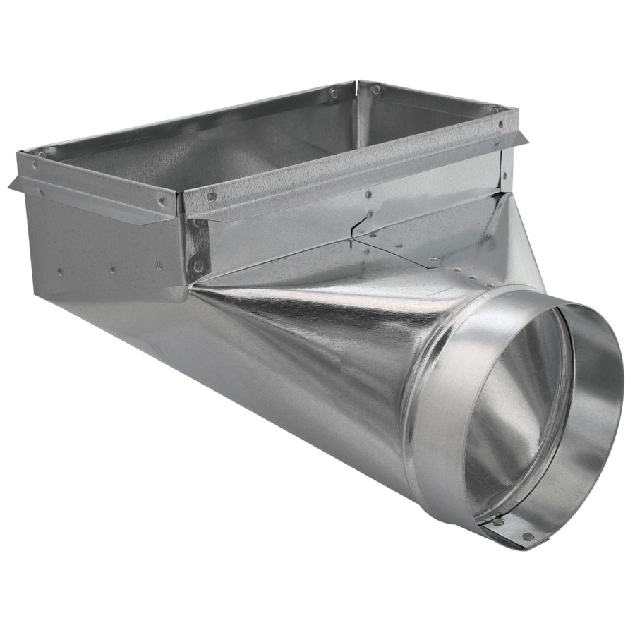 IMPERIAL 6-in x 6-in Galvanized Steel 90-Degree Register Duct Boot