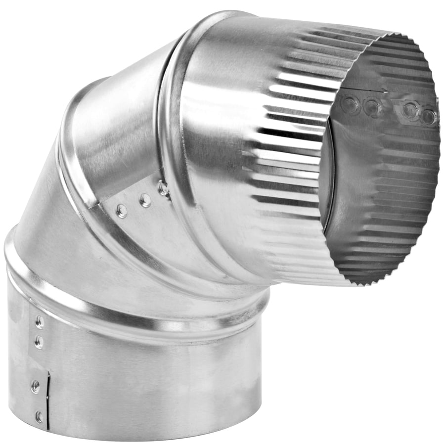 IMPERIAL 4-in x 4-in Aluminum Round Duct Elbow