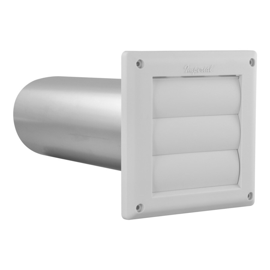 IMPERIAL 4-in Dia Plastic Louvered Dryer Vent Hood