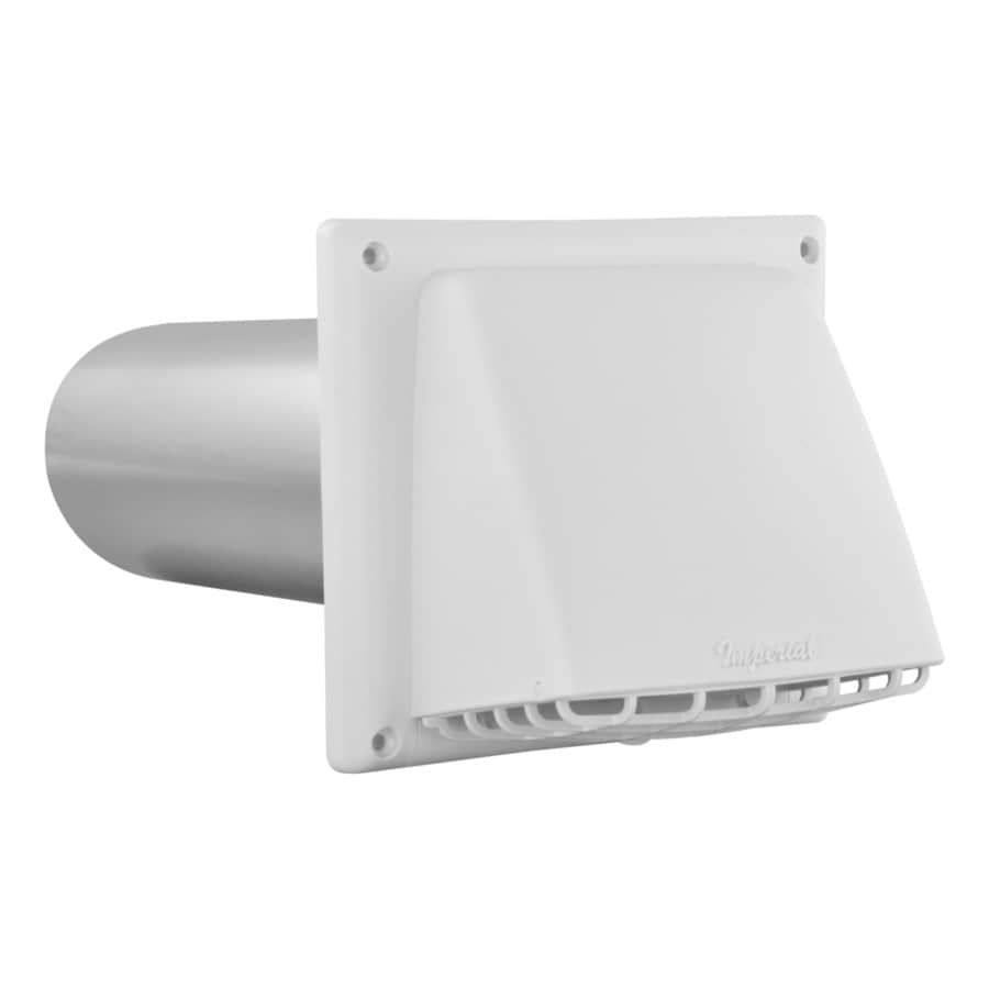 IMPERIAL 4-in Dia Plastic Preferred with Guard Dryer Vent Hood