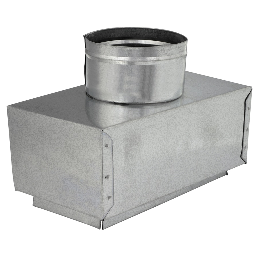 IMPERIAL 8-in x 4-in x 4-in Insulated Galvanized Steel Straight Register Duct Boot