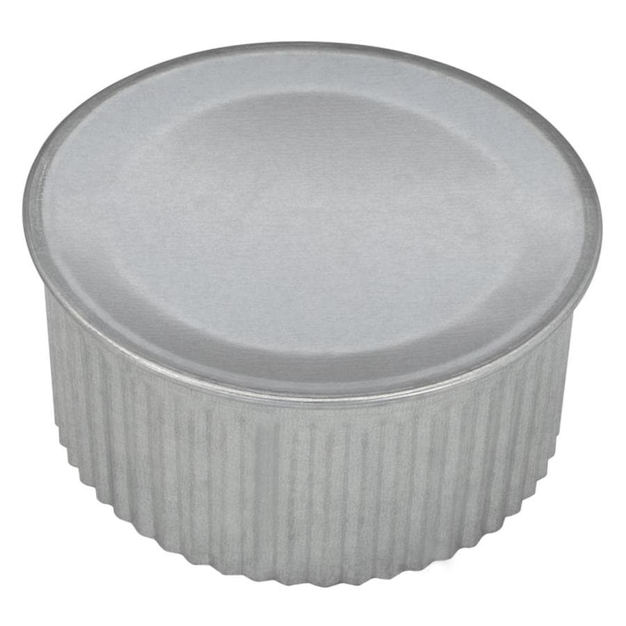 IMPERIAL 4-in Dia Galvanized Steel Round End Cap