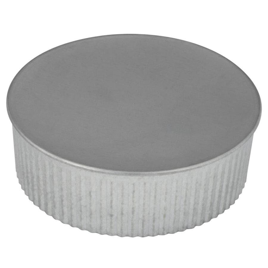 Shop Imperial 5 In Dia Galvanized Steel Round End Cap At