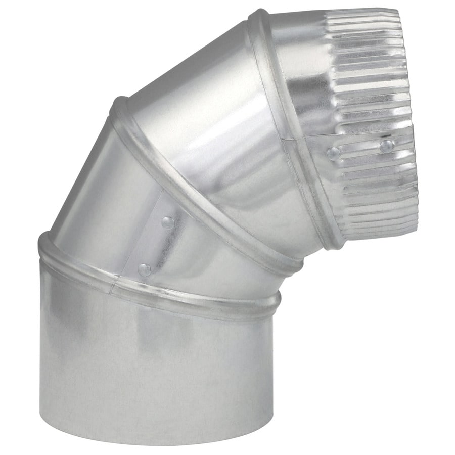 IMPERIAL 4-in x 4-in Galvanized Steel Round Duct Elbow