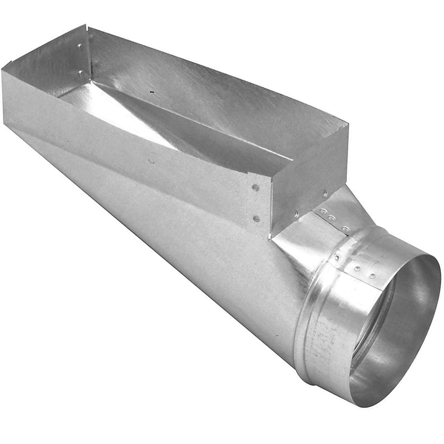 IMPERIAL 12-in x 4-in x 6-in Galvanized Steel End Register Duct Boot