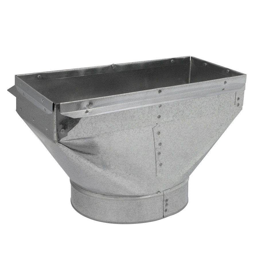 IMPERIAL 12-in x 6-in x 8-in Galvanized Steel Straight Register Duct Boot