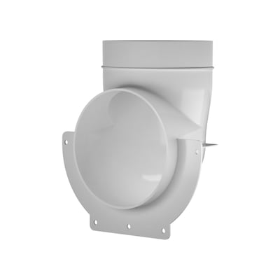IMPERIAL 6 25-in x 4-in Plastic Oval Duct Elbow at Lowes com
