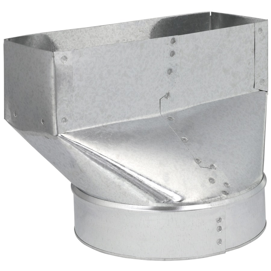 IMPERIAL 7-in x 10-in Galvanized Steel Straight Stack Duct Boot