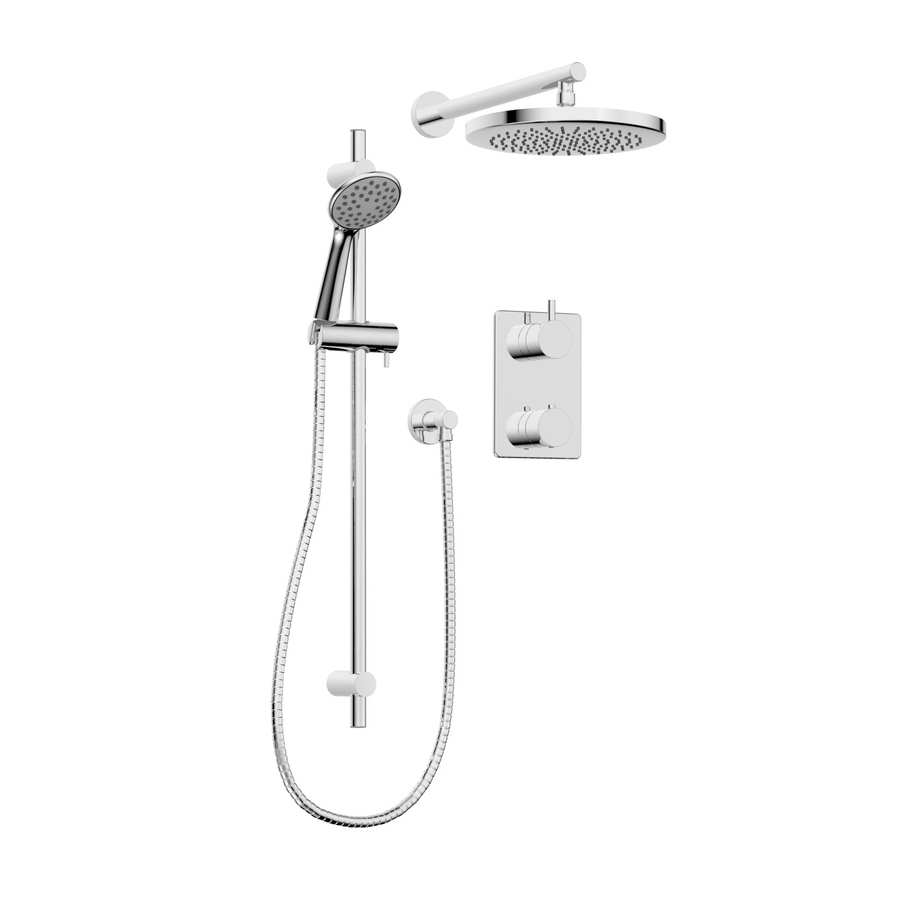 Shop Keeney Universal Polished Chrome 2-Handle Shower Faucet with ...