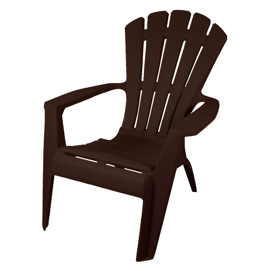 Gracious Living Earth Plastic Stackable Adirondack Chair