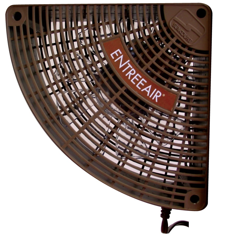 suncourt entree air 525 in brown plastic door frame fan
