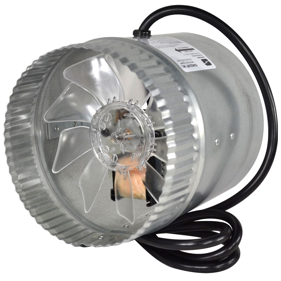 SUNCOURT Inductor 6 in Dia Galvanized Steel Axial Duct Fan. Shop Duct Fans   Dampers at Lowes com