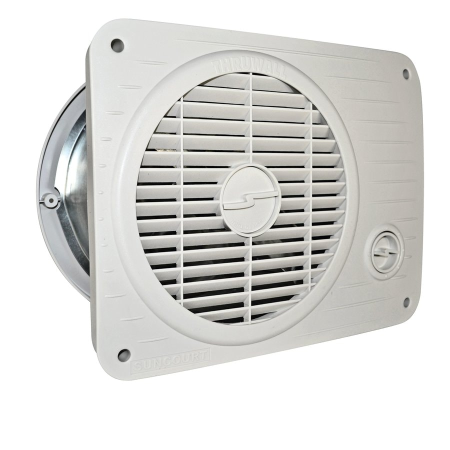 Shop suncourt 8 in hardwired through wall fan at for Bathroom exhaust fan lowes