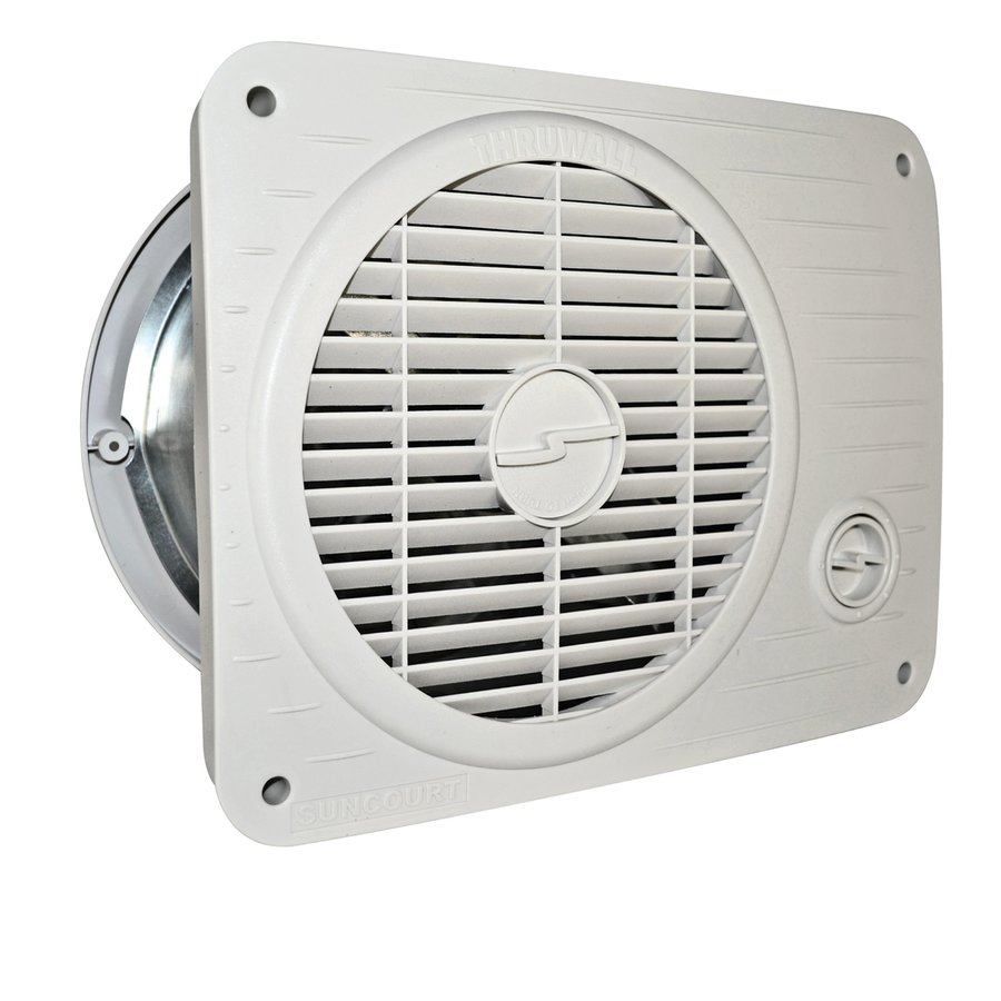 Shop Suncourt 8 In Hardwired Through Wall Fan At Lowes Com