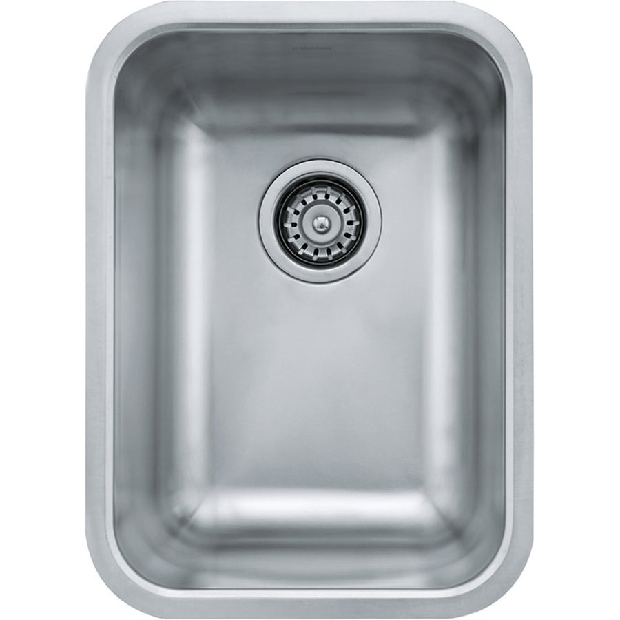 Franke Grande 18.75-in x 13.75-in Stainless Steel Single-Basin Drop-in or Undermount Residential Kitchen Sink