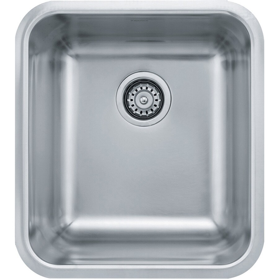Franke Grande 18.75-in x 16.75-in Stainless Steel 1 Stainless Steel Undermount (Customizable)-Hole Residential Kitchen Sink