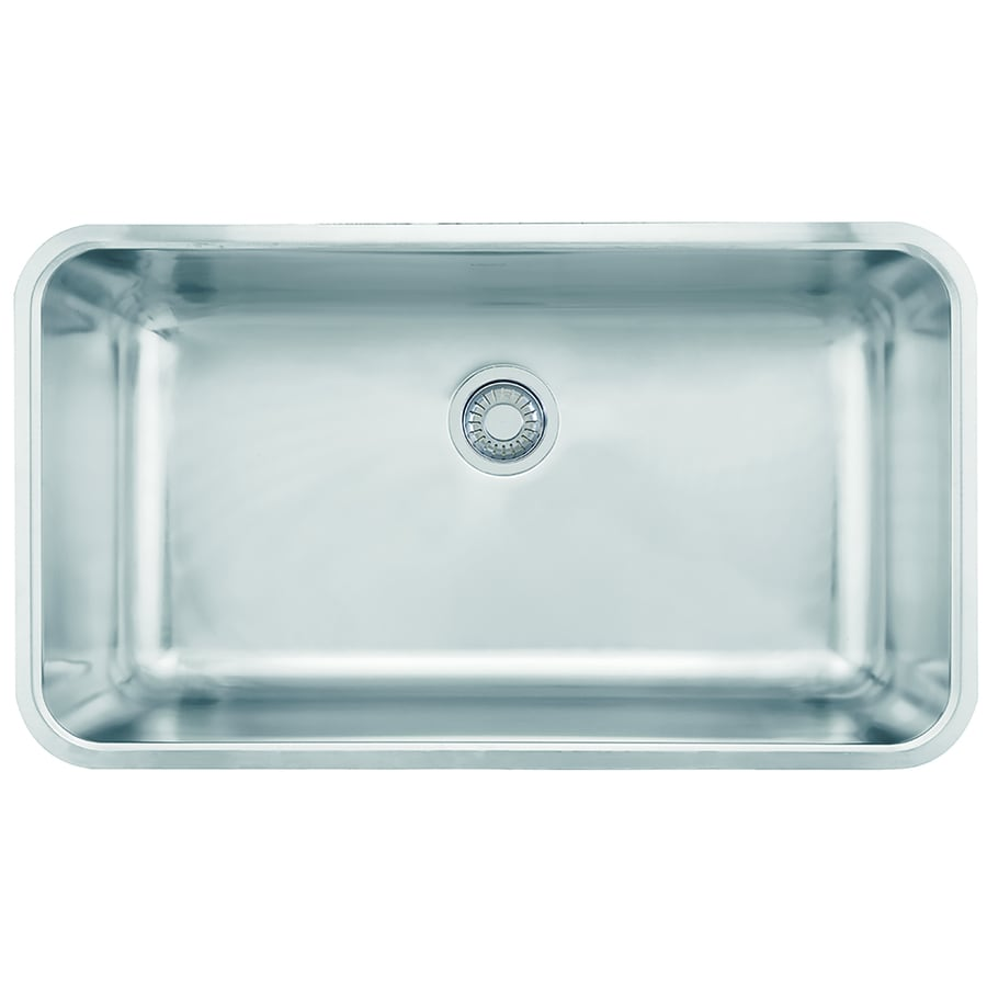 Franke Stainless Steel : Shop Franke Grande 18.75-in x 32.75-in Single-Basin Stainless Steel ...