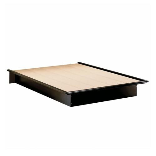 South Shore Furniture Step One Pure Black Full Platform Bed With