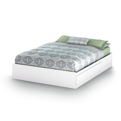 South S Furniture Vito Pure White Queen Platform Bed