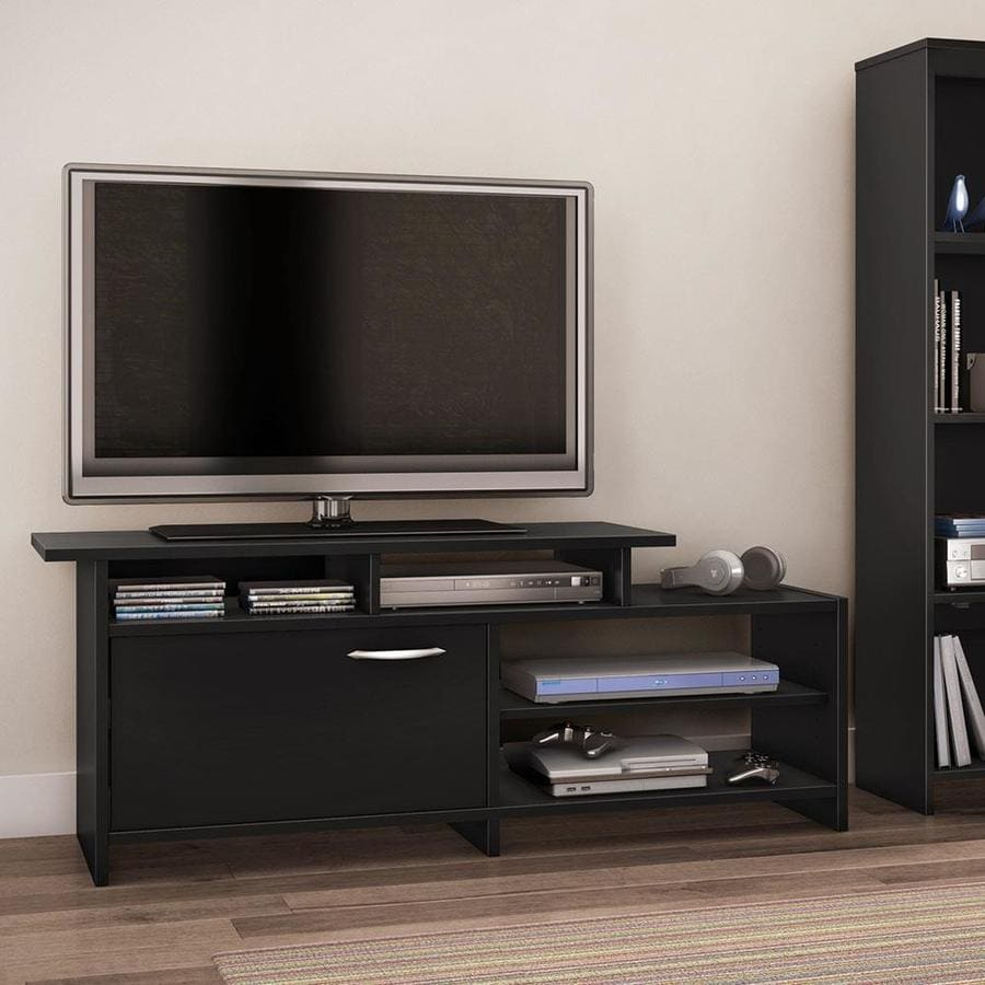 South S Furniture Step One Pure Black Tv Cabinet Stand